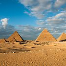 Pyramids of Giza 7 by Michael Brewer