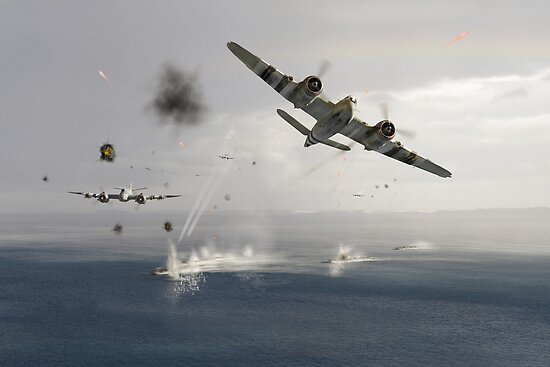 Beaufighters attacking E-boats by Gary Eason + Flight Artworks