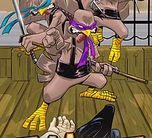 Thanksgiving Marauding Ninja Turkeys 2013 by ewgraphics