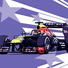 F1 Championship Cars - Vettel RB9 by Tom Clancy