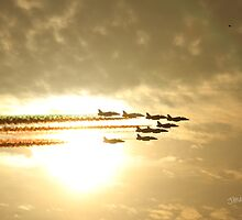 Red Arrows Sunset by Jonathan Cox