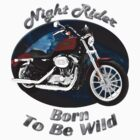 Harley Davidson Sportster Night Rider by hotcarshirts