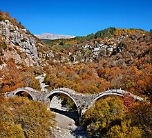 Kalogeriko bridge, Zagori by Hercules Milas