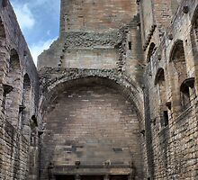 The Great Hall Looking South, Linlithgow Palace. Scotland by Miles Gray