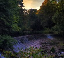 HDR Sunrise at Colinton Dell, Edinburgh. Scotland by Miles Gray