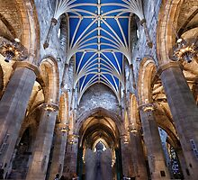 St Giles Cathedral: Angel, Edinburgh by Miles Gray