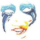 Lady Gaga - Red yellow and blue by Laura Spencer