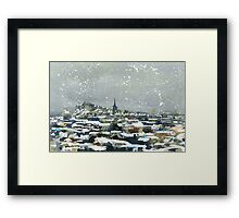 Snowy Edinburgh Framed Print