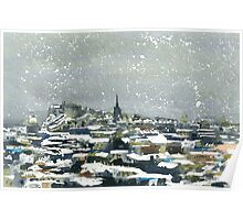 Snowy Edinburgh Poster