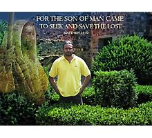 ❤ † FOR THE SON OF MAN CAME-BIBLICAL-PICTURE CARD ❤ † Photographic Print
