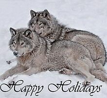 Timber Wolf Holiday Card 2 by WolvesOnly