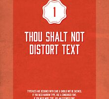 Commandment #1 of graphic design by Janna Barrett