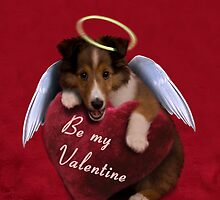 Be my Valentine Angel Sheltie Puppy by jkartlife