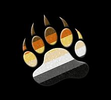 Gay Bear Pride Paw  by LiveLoudGraphic
