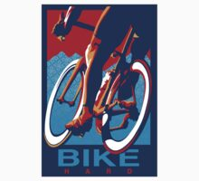 Retro styled motivational cycling poster: Bike Hard T-Shirt