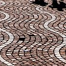 Wavy Pavement and Silhouettes by Michael Brewer