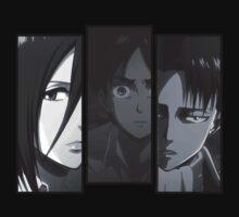 Levi, Eren, Mikasa Kids Clothes