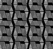 abstract black and white pattern by Tanor