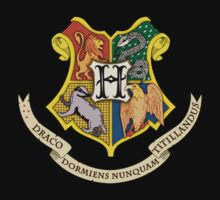 Hogwarts harry potter crest logo by OnlyTheBest