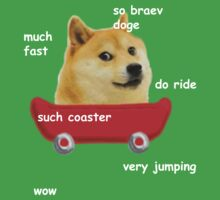 Doge Coaster (White Text) by Pat Scullion