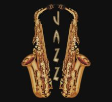 Jazz Sax  decoration Clothing & Stickers by goodmusic