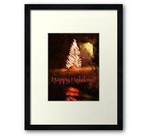 Christmas Impressions - Happy Holidays! Framed Print