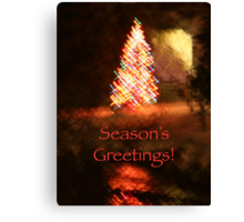 Christmas Impressions - Season's Greetings Canvas Print