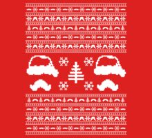 Mustache Ugly Christmas Sweater by protos