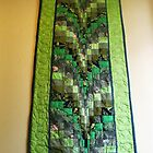 Gorgeous Green Quilted Tapestry by BlueMoonRose