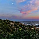 Beavertail Moon at Dusk - Jamestown Rhode Island by Jack McCabe
