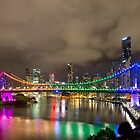 The Rainbow Bridge - Brisbane Qld Australia by Beth  Wode