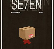 Seven - Movie Poster by FinlayMcNevin