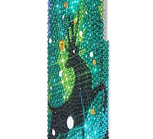 Christmas Deer Swarovski Crystal iPhone 5 Case, iPhone 5S Case by ashinekit