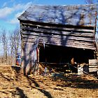 Old log barn by barnsis