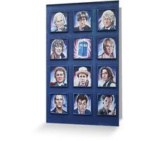 Eleven Doctors and the TARDIS: 50th Anniversary Greeting Card