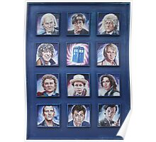 Eleven Doctors and the TARDIS: 50th Anniversary Poster