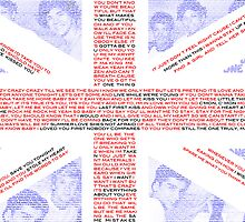 One Direction Typographic Union Jack Flag by May92