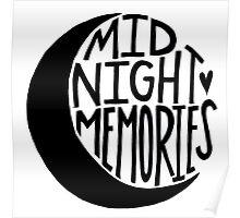 Midnight Memories Moon- Black Poster