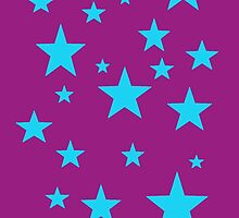 Purple and Sky Blue Stars by kltj11