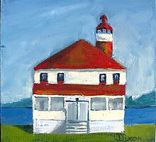 Point Lookout Lighthouse at the Potomac River & Chesapeake Bay by Phyllis Dixon