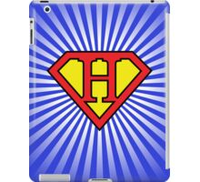 H letter in Superman style iPad Case/Skin