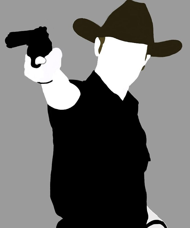 Rick Grimes Silhouette By Beast22ros Redbubble