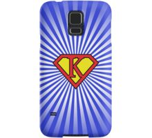 K letter in Superman style Samsung Galaxy Case/Skin