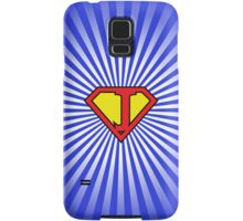 J letter in Superman style Samsung Galaxy Case/Skin