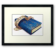 Spoilers, River Song's Tardis Journal Framed Print