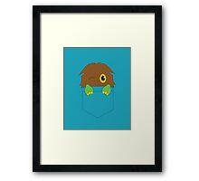 Kuriboh in a pocket (Yu-Gi-Oh!) Framed Print