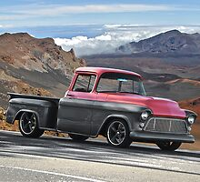 1956 Chevrolet Stepside Pick-Up Truck V by DaveKoontz