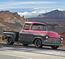 1956 Chevrolet Stepside Pick-Up Truck V by DaveKoontz
