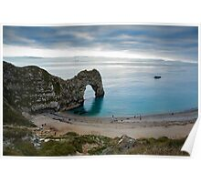 Afternoon cloud breaking up at Durdle Door Poster