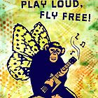 Live Wild, Play Loud, Fly Free. Mixed Media by chongolio